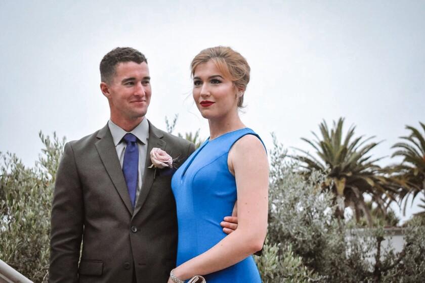 Author, Kathleen Bourque, and her late fiancé, 1st Lieutenant Conor McDowell, USMC