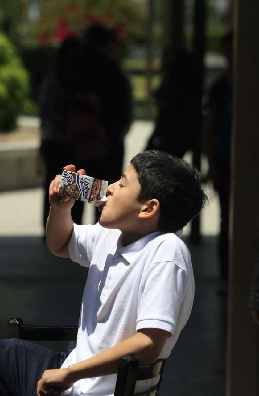 Study says there could be unintended consequences of taking chocolate milk out of schools.