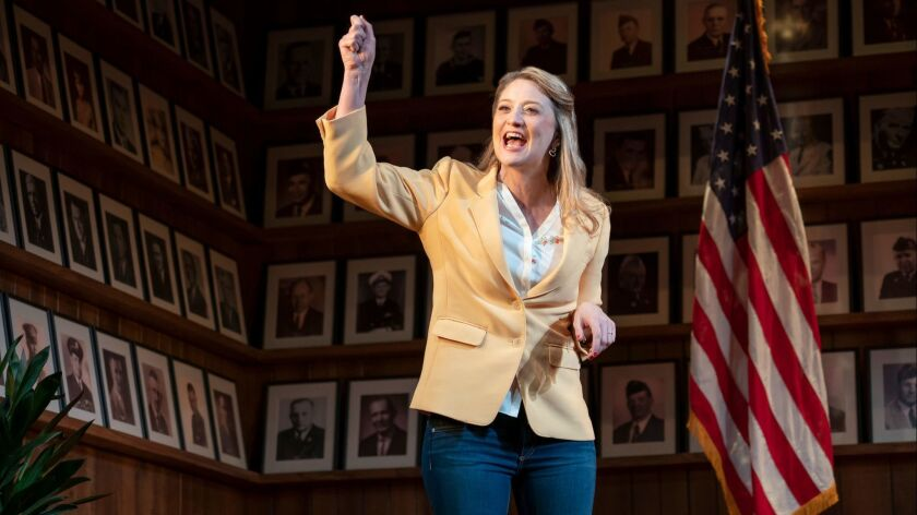 "Heidi Schreck in ""What the Constitution Means to Me"" at New York's Helen Hayes Theater."