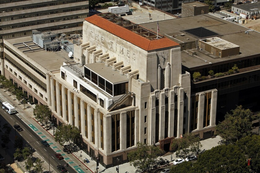 The Los Angeles Times has called its headquarters, at the corner of 1st and Spring streets, home since 1935.