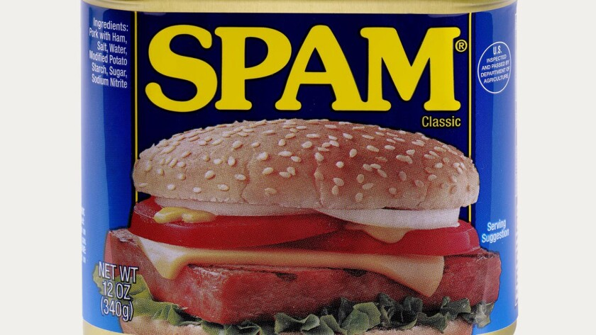 Spam is out of the can