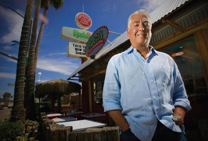 Founder of the fish taco restaurant Rubios, Ralph Rubio stands just outside the very first restaurant that he opened in Pacific Beach.