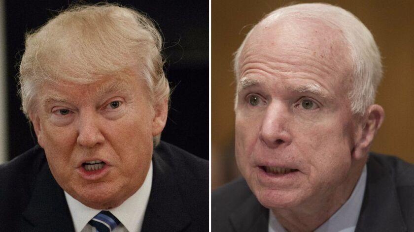 Donald Trump and Sen. John McCain