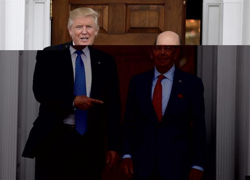 El multimillonario inversor Wilbur Ross, con intereses en el sector siderúrgico y minero y conocido por sus operaciones para reestructurar empresas fallidas, fue designado por el presidente electo, Donald Trump, como su secretario de Comercio. EFE/ARCHIVO