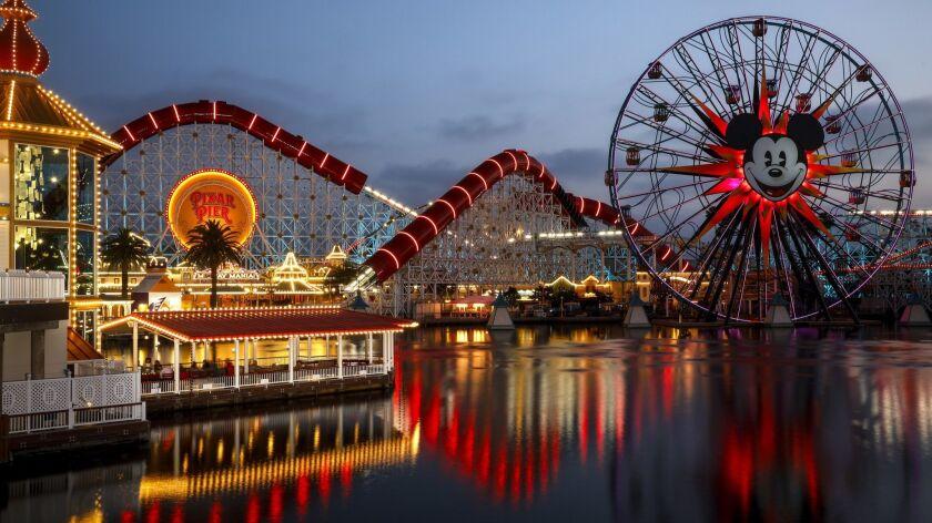 ANAHEIM,CA --THURSDAY, JUNE 21, 2018--Leaving Pixar Pier at Disney California Adventure Park, at the