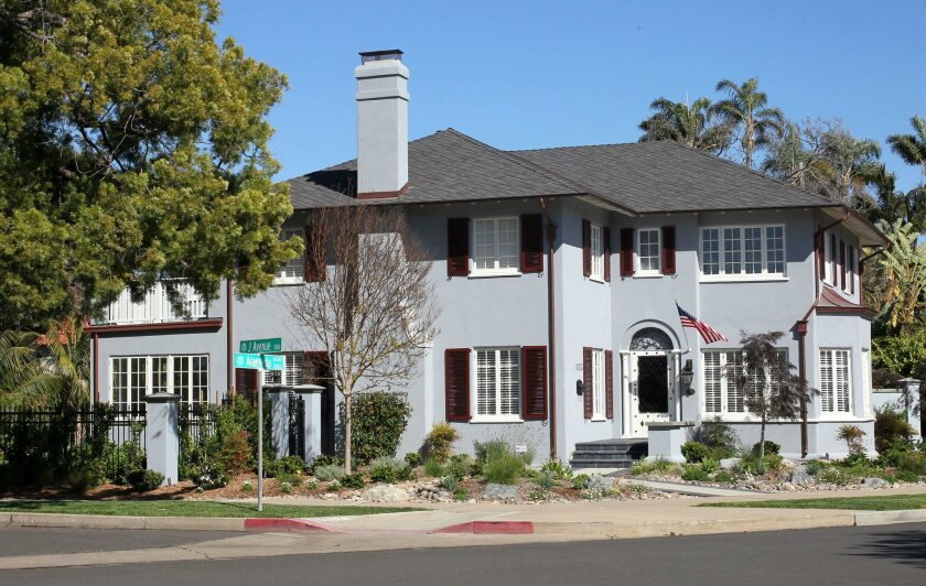 In the last 12 months, San Diego County home prices increased 6.4 percent, the S&P/Case-Shiller Home Price Index said. Pictured: A home Coronado on Alameda Blvd. in March.