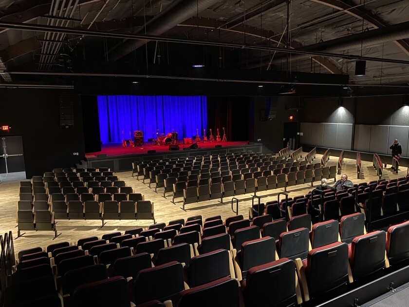 Interior view of the $6.3-million Center for the Arts in Grass Valley. Before the center's multimillion-dollar renovation, the nearest arts venue was a 60-mile drive to Sacramento.
