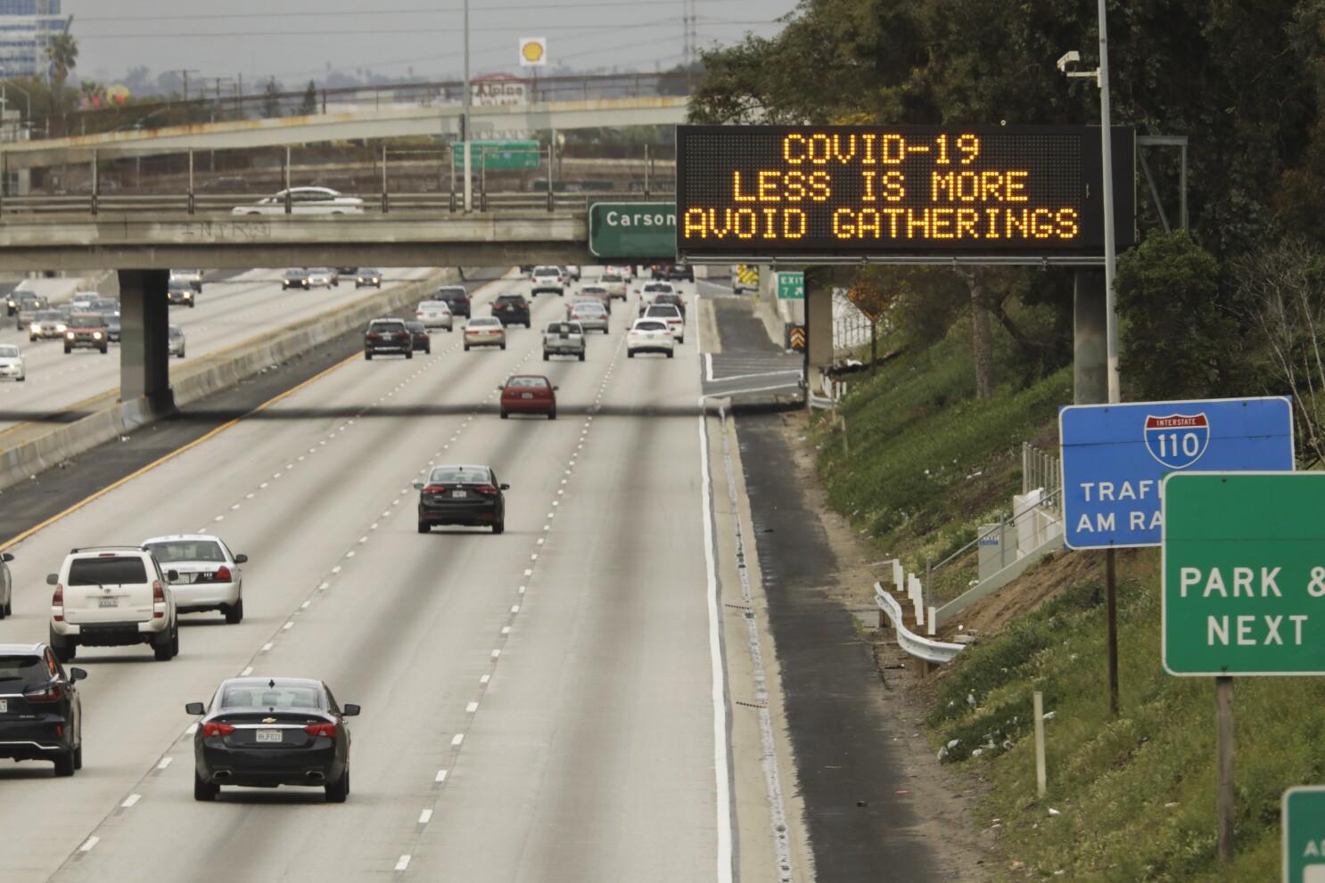 Coronavirus With Less Freeway Traffic Speeding Drivers Are