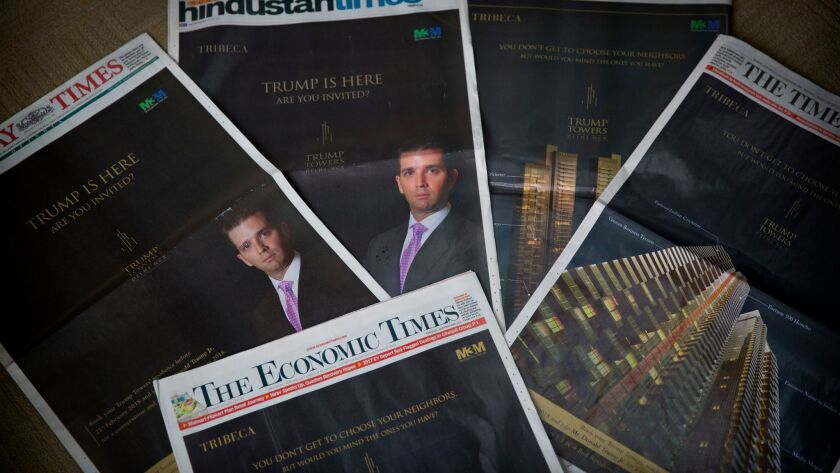 The eldest son of US President Donald Trump, Donald Trump Jr's Trump Towers ads are seen in major ne