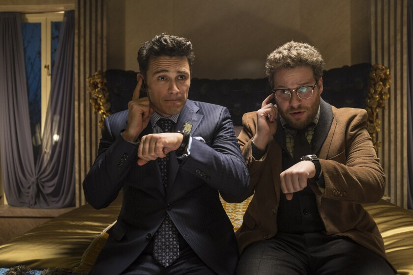 """The hackers have demanded that Sony cancel the Dec. 25 release of the Seth Rogen comedy """"The Interview,"""" which depicts a fictional assassination attempt on North Korean leader Kim Jong Un."""
