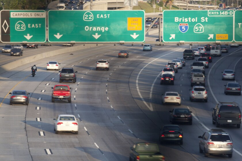Orange County is reconfiguring its 267-mile network of HOV lanes so motorists can enter and exit anywhere, rather than just in designated areas that are often spaced far apart. Officials cite research that says the approach has reduced accidents, congestion and pollution.