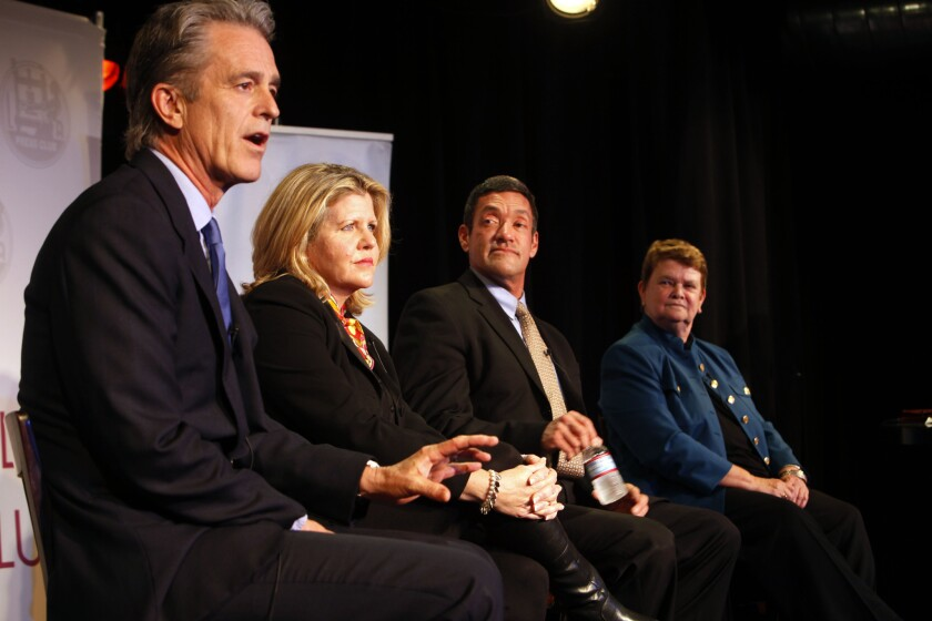 Bobby Shriver, Pamela Conley-Ulich, John Duran and Sheila Kuehl are competing to replace Zev Yaroslavsky.