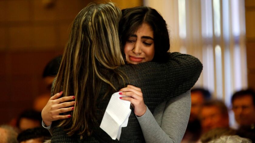 SIMI VALLEY, CA - APRIL 18, 2017 -- Navroop Maan, 19, facing camera, cries after making a plea to R