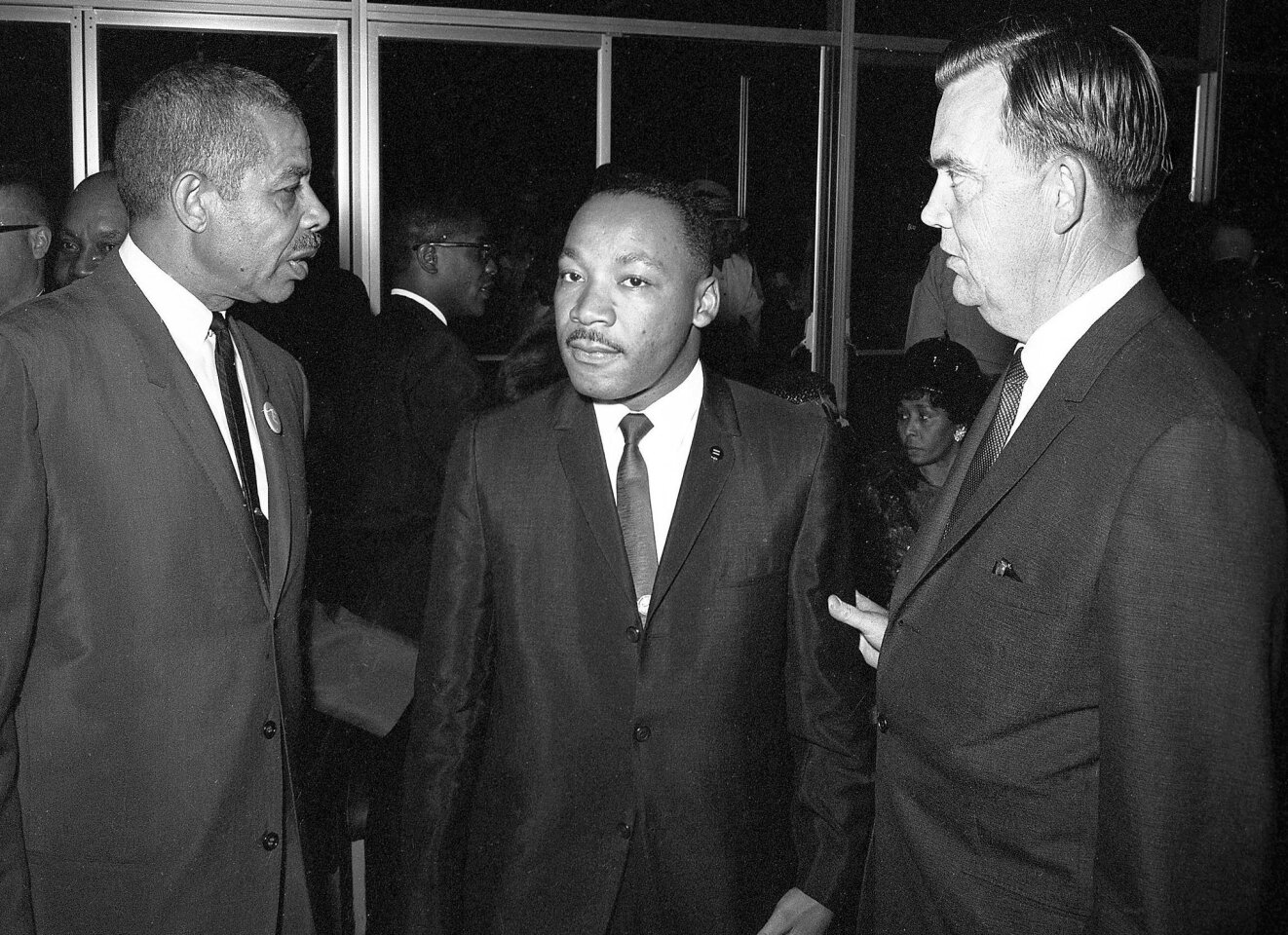 The Rev. Martin Luther King, Jr. brought his campaign for civil rights legislation to two local college campuses in 1964. He spoke to more than 9,000 at California Western University and San Diego State.