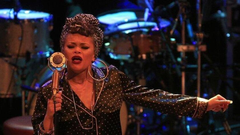 Andra Day performed at the Observatory North Park Tuesday evening (David Brooks / San Diego Union-Tribune)