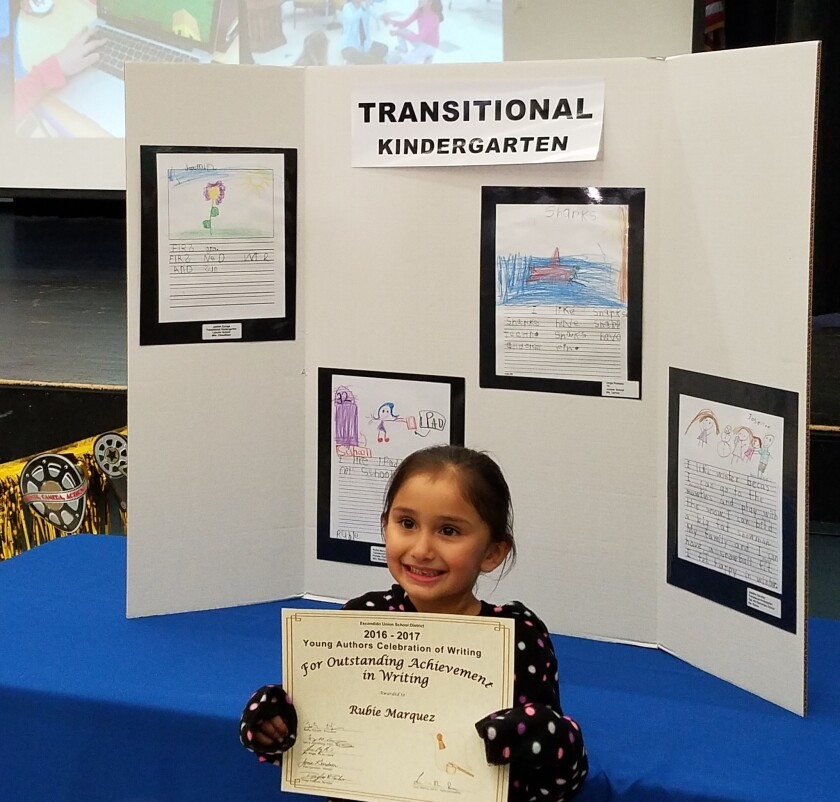 Rubie Marquez of Pioneer Elementary was one of the Young Authors honored.