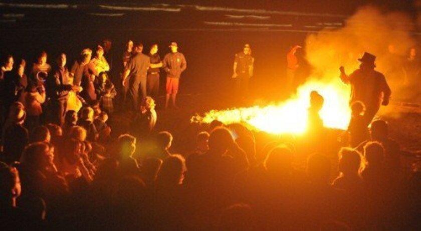 Stories around the bonfire (Photo: Rob McKenzie)