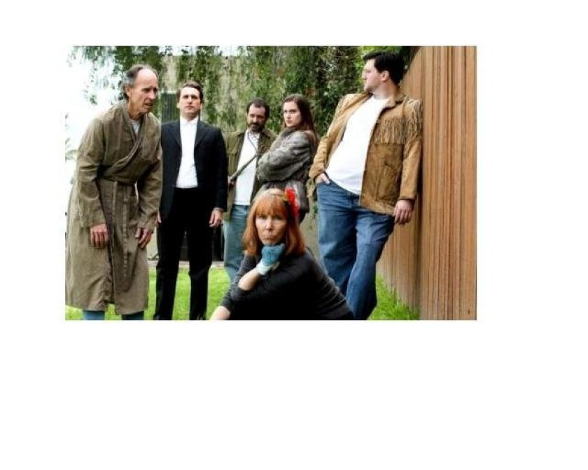 """The cast of """"Buried Child"""" at New Village Arts."""