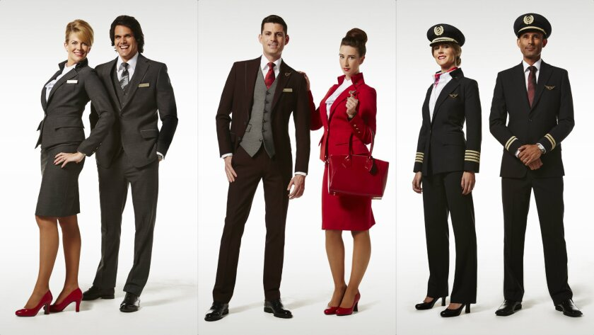 Virgin Atlantic's new Vivienne Westwood-designed uniforms, unveiled Tuesday, will start to appear onboard and in airports beginning Sept. 1.
