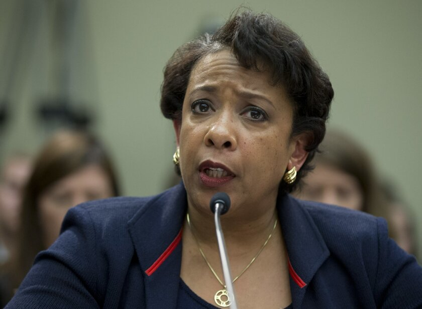 Attorney General Loretta Lynch testifies on Capitol Hill in Washington, Tuesday, July 12, 2016, before the House Judiciary Committee. Lynch testified before Congress amid a roiling national debate over police violence and as House Republicans seek a Justice Department perjury investigation of Hilla