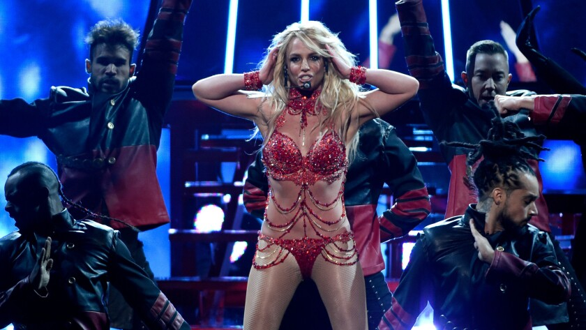 Britney Spears performs during May's Billboard Music Awards.