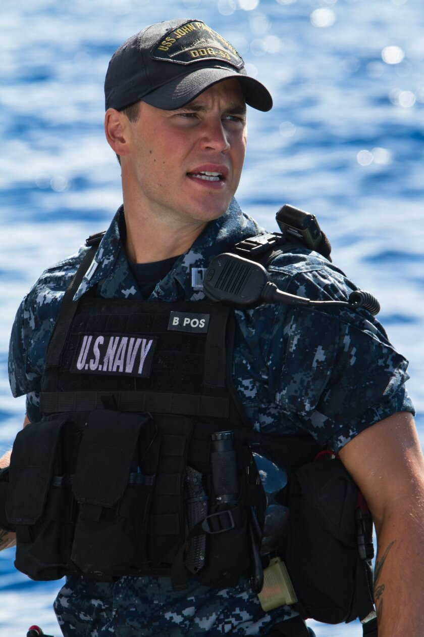 """Taylor Kitsch stars as Hopper, a screwup officer turned leader in """"Battleship."""""""