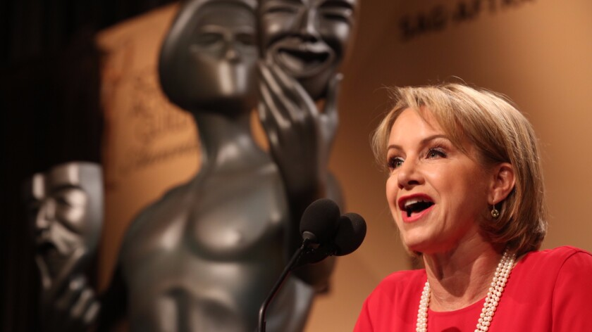 Gabrielle Carteris at the 22nd Annual Screen Actors Guild Awards nominations in West Hollywood in 2015