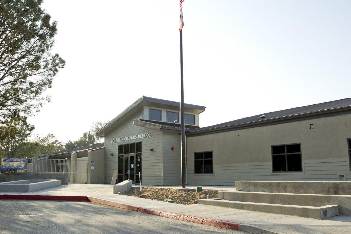 A new look for the entrance to Solana Highlands School