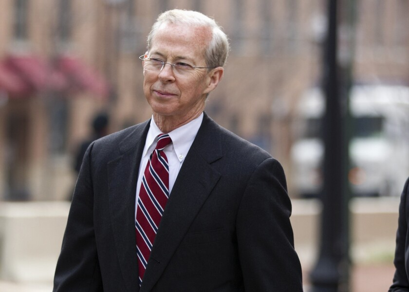 Dana Boente, then-First Assistant U.S. Attorney for the Eastern District of Virginia leave federal court in Alexandria, Va.