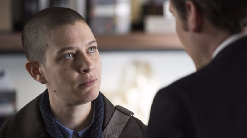 """Asia Kate Dillon as Taylor in """"Billions."""""""