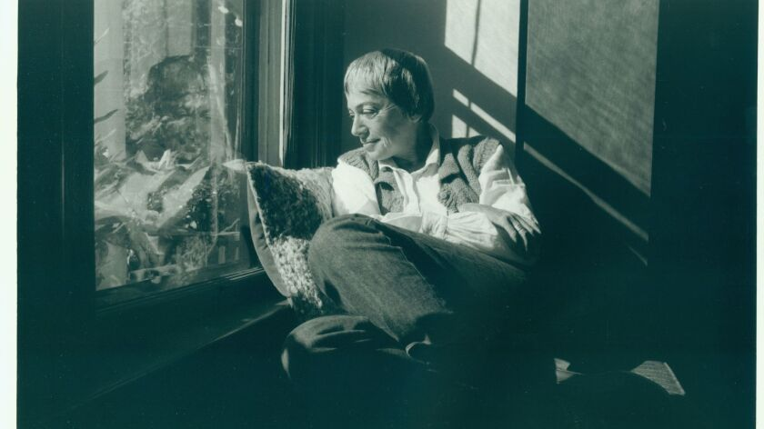 A photograph of Ursula LeGuin in her Portland home on Oct. 20, 1985. Credit: Brian Drake / For the T