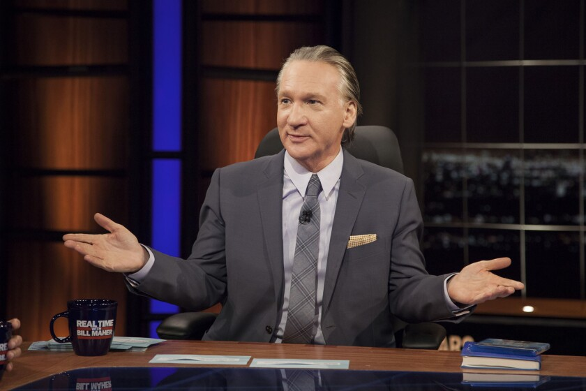 """Bill Maher on the set of HBO's """"Real Time With Bill Maher."""""""