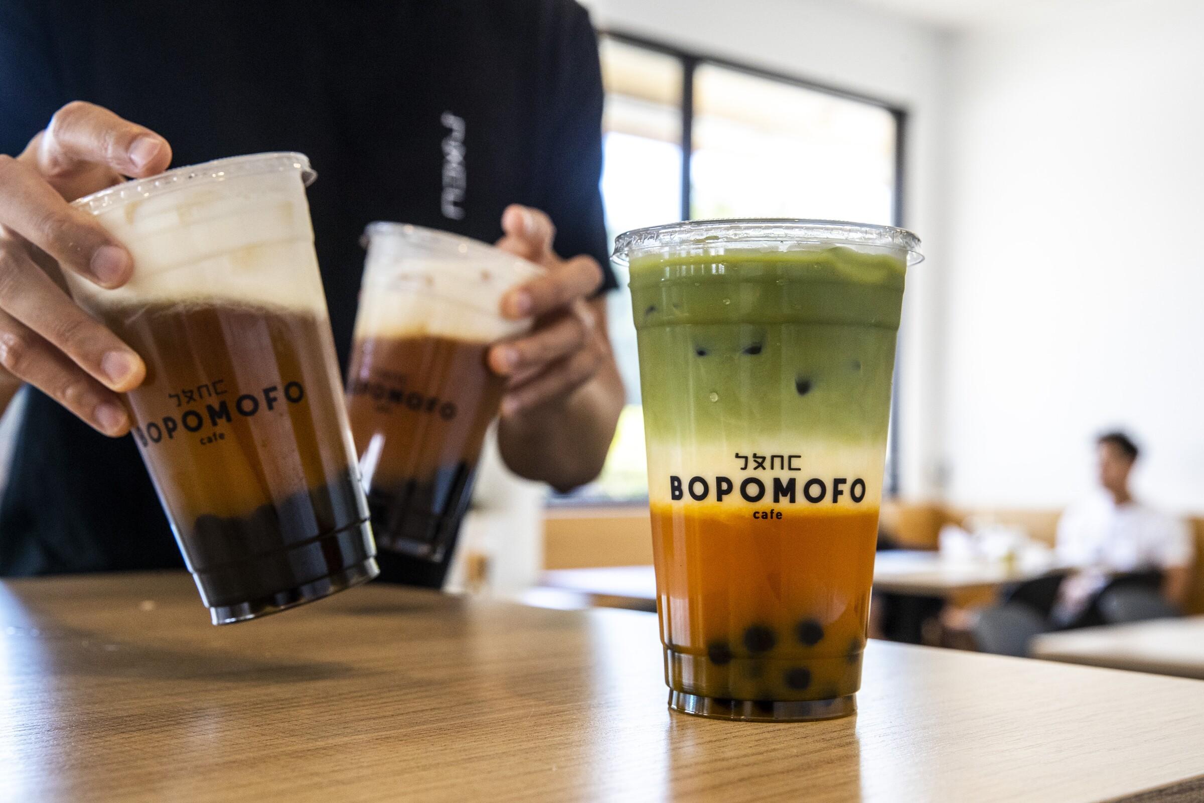 Boba drinks from Bopomofo Cafe