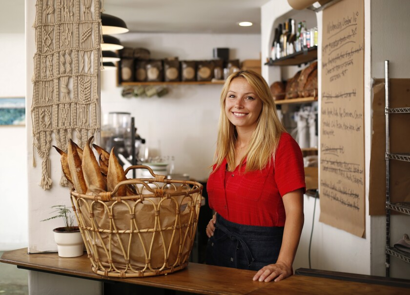 Chef Crystal White of Wayfarer Bread & Pastry in La Jolla.