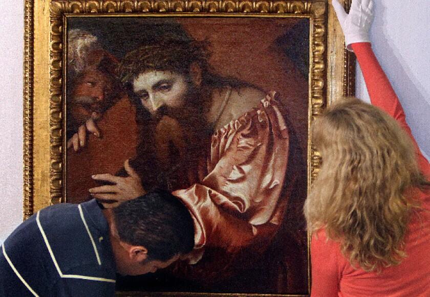 A painting by Girolamo Romani