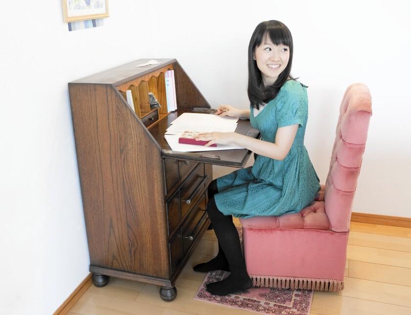"Self-described ""tidying freak"" Marie Kondo's latest book is ""Spark Joy."""
