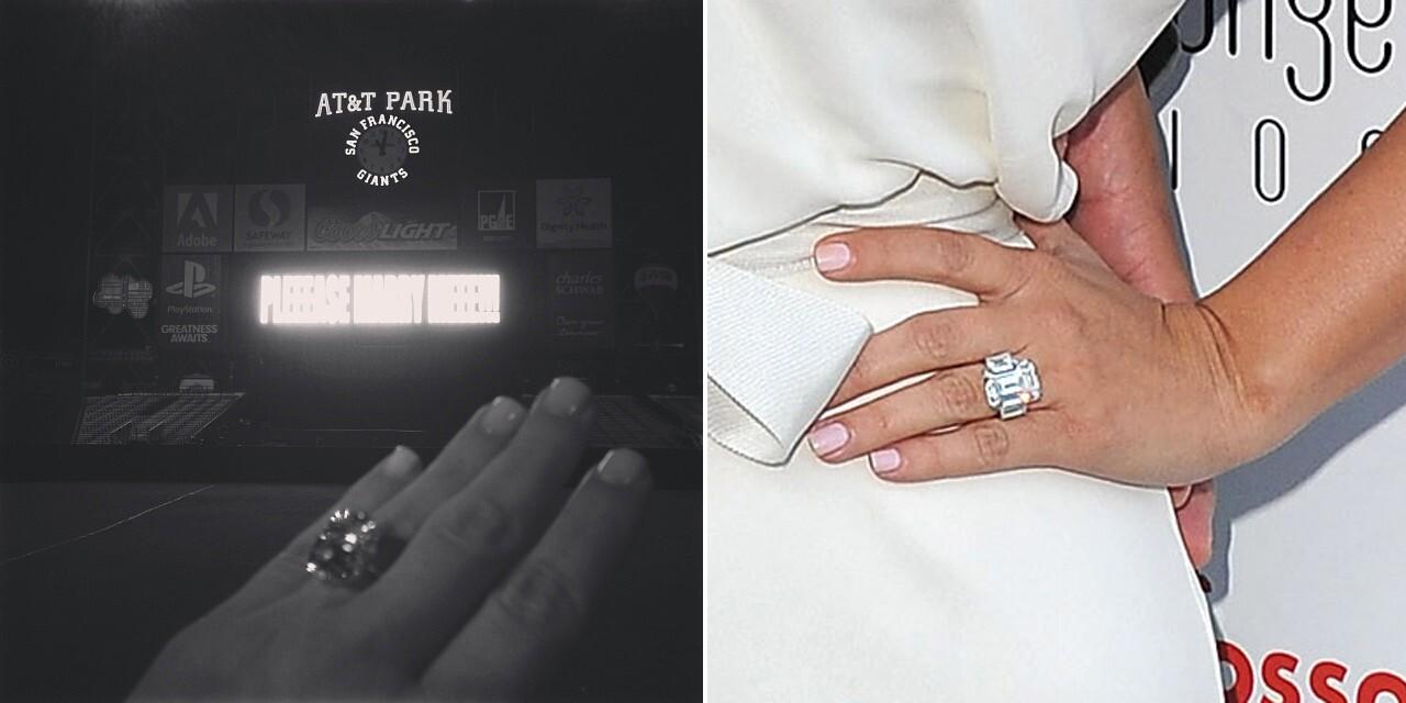 Kim Kardashian S Engagement Rings Kanye West Vs Kris Humphries Los Angeles Times