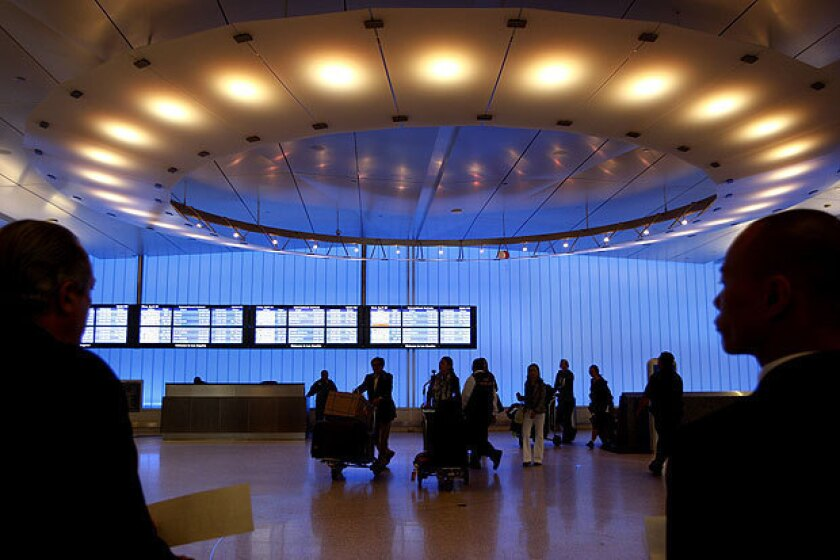 The Tom Bradley International Terminal at LAX. U.S. carriers are expected to set a new record with 27 million travelers flying to international destinations this summer.