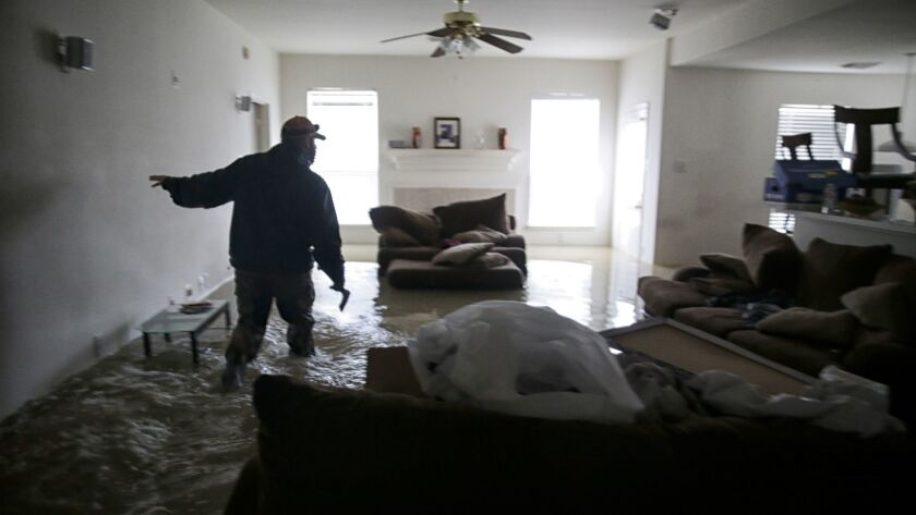 This home in the Houston suburb of Clodine was flooded by the rains from Hurricane Harvey. Only a fraction of Houston-area homeowners are insured against flood damage.