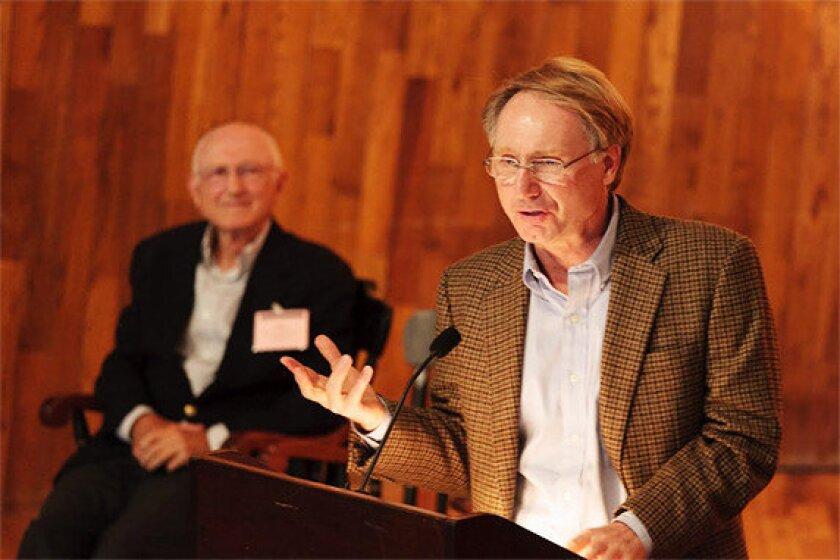 """Dan Brown, right, author of """"The Da Vinci Code."""""""