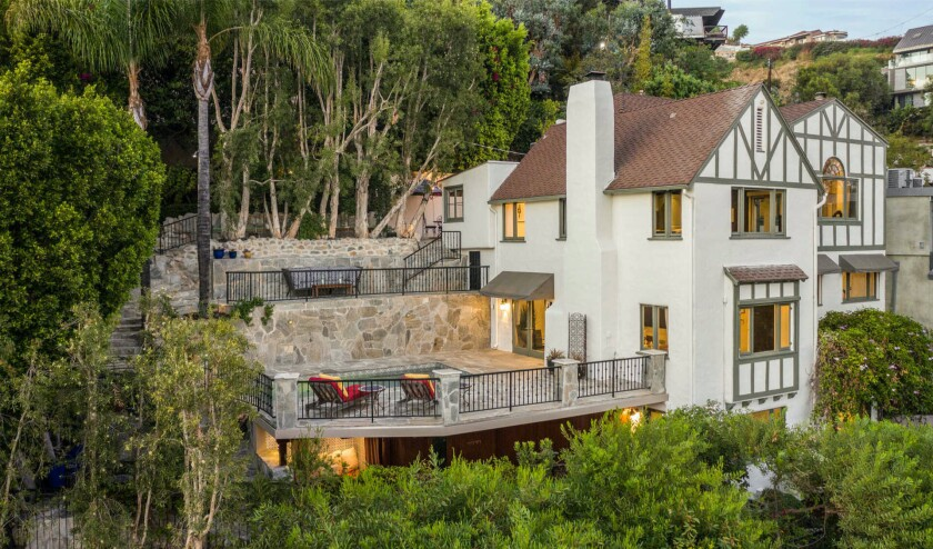 Built in the '20s but updated since, the Tudor-style spot has three bedrooms, 3.5 bathrooms, a movie theater, gym and sauna.