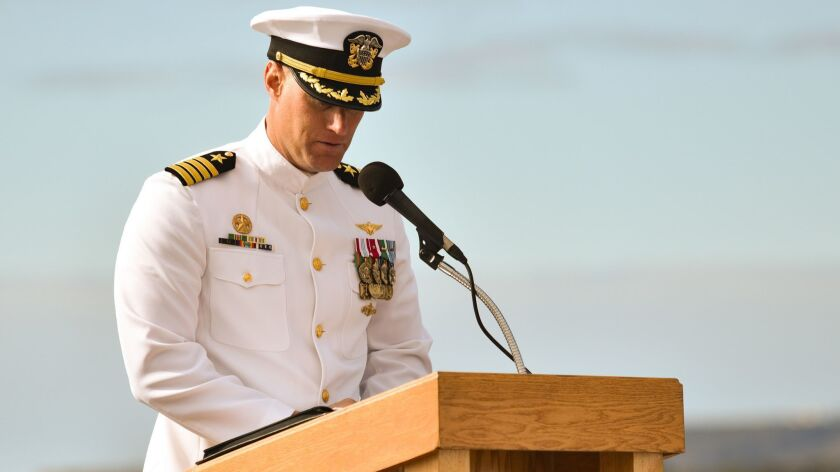 Capt. William Sherrod took command of warship Somerset on Nov. 2. The Navy announced on Tuesday that he has been relieved of duty.