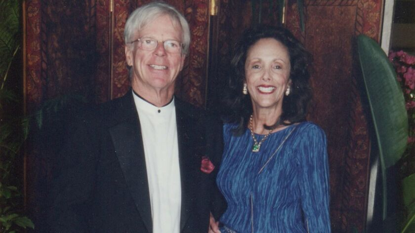 John and Toni Bloomberg in 2002 at the Las Patronas Jewel Ball held at La Jolla Beach & Tennis Club.