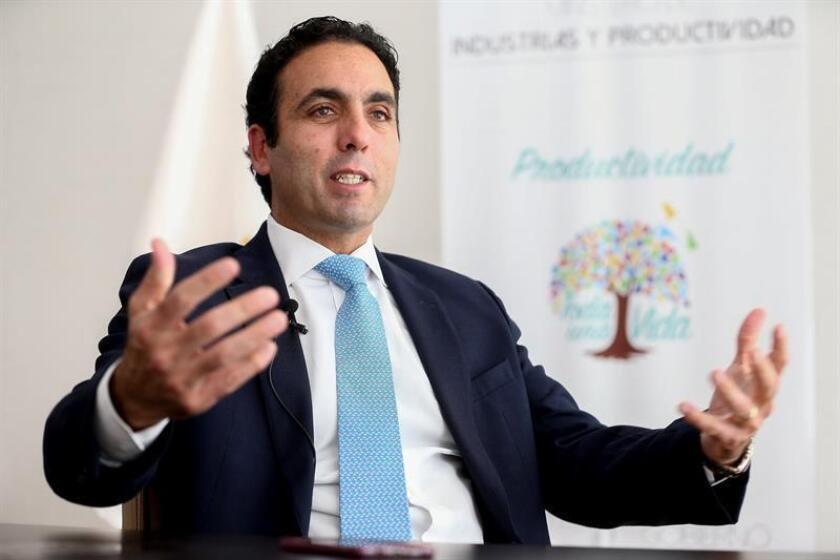 Ecuadorian Production, Foreign Trade and Investment Minister Pablo Campana speaks during an interview with EFE in Quito on Nov. 8, 2018. EFE-EPA/Jose Jacome