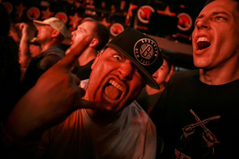 This guy was clearly excited to see Prophets of Rage.