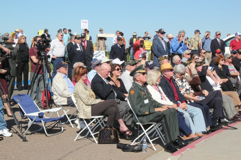 "Attendees at the Liberty Institute's Feb. 9 ""Don't Tear Me Down"" rally to save the Mt. Soledad cross."