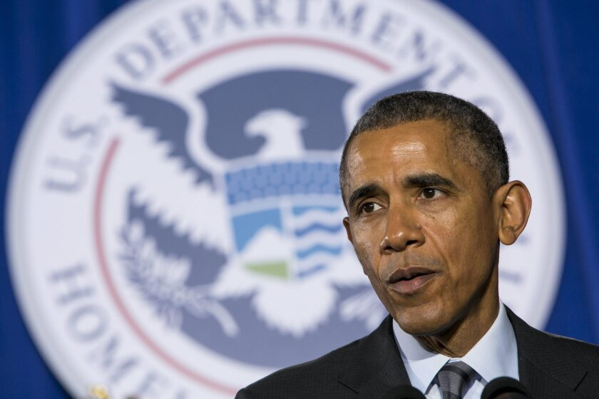 President Obama delivers remarks on the FY2016 budget at the Department of Homeland Security in Washington.
