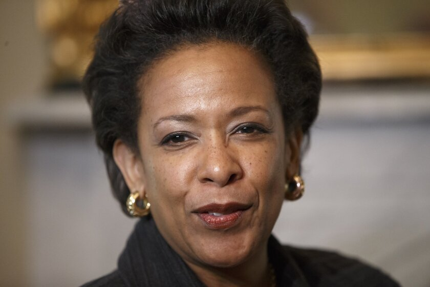 Loretta Lynch, President Obama's nominee to be attorney general.