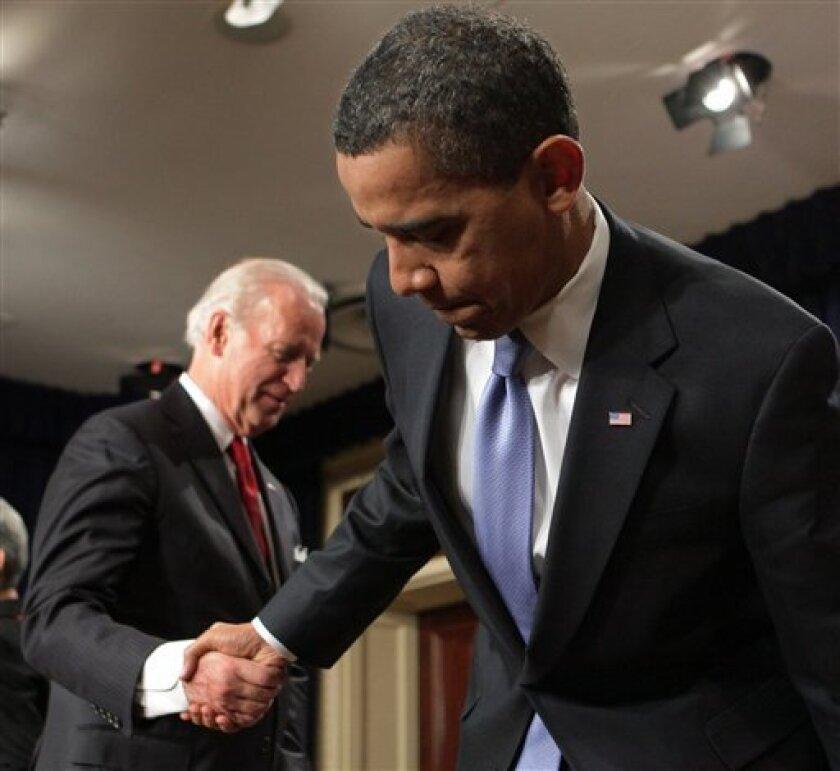 A Small Biden Moment A Cool Obama Reaction The San Diego Union Tribune
