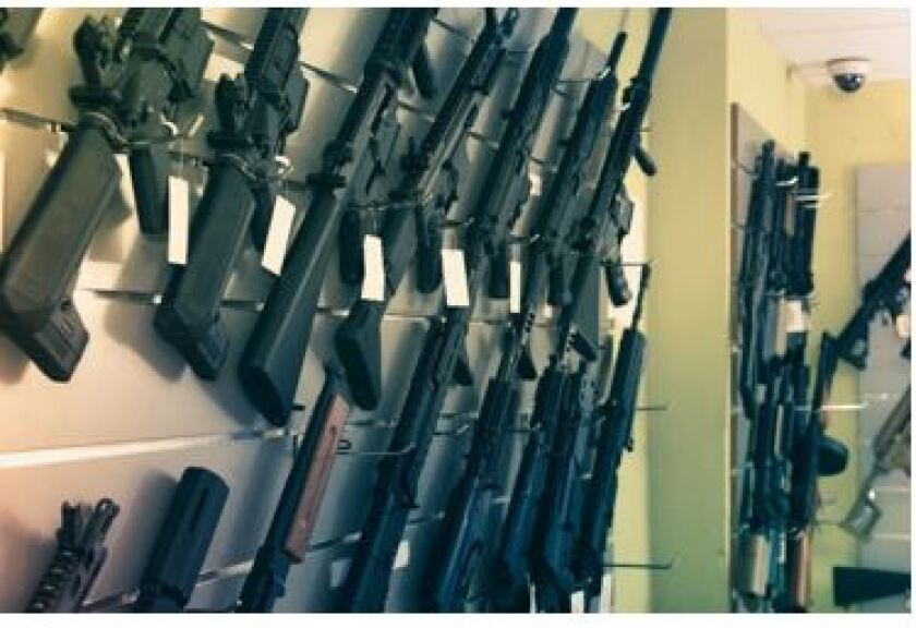 Dozens of looters stole 29 firearms from a store in Hayward, Calif.